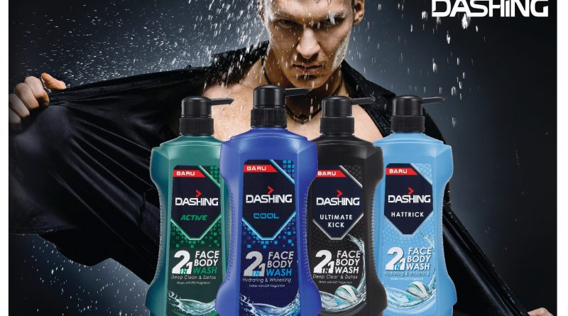 Mandian Dashing 2 in 1 Face & Body Wash Khas Untuk Hero-Heroku