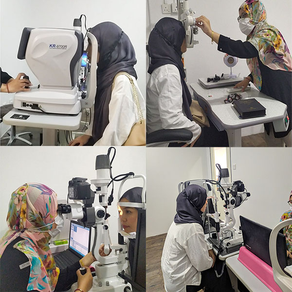 Bespoke spectacles-Comrehensive clinical test at Optom eyecare Bangi