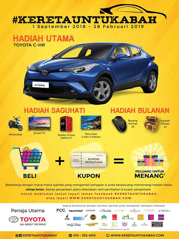 Kereta Untuk Abah -Toyota C-HR Untuk Abah Bertuah